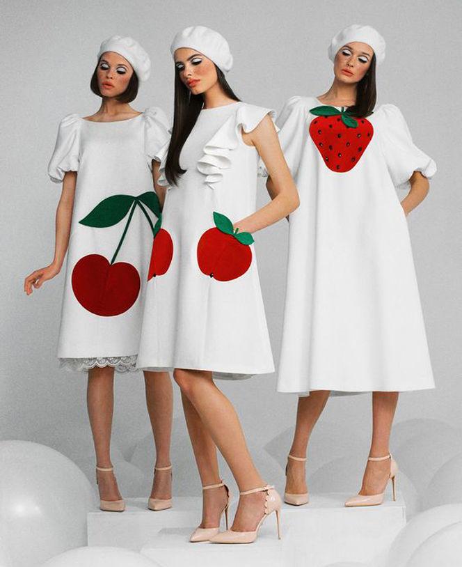 платье с изображением вишни