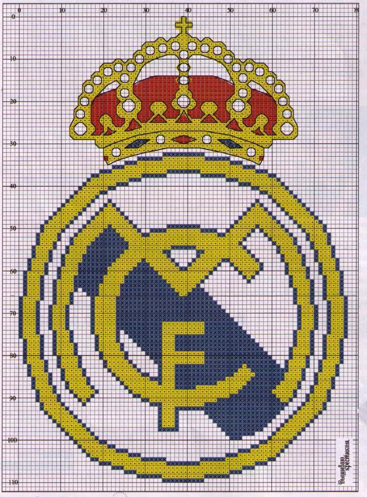Схемы вышивок крестом футбол