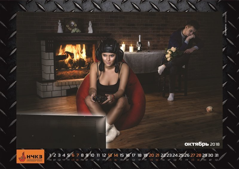 Новый «мужской» календарь от завода Набережных челнов ynews, Набережные Челны, девушки, завод, интересное, календарь, фото