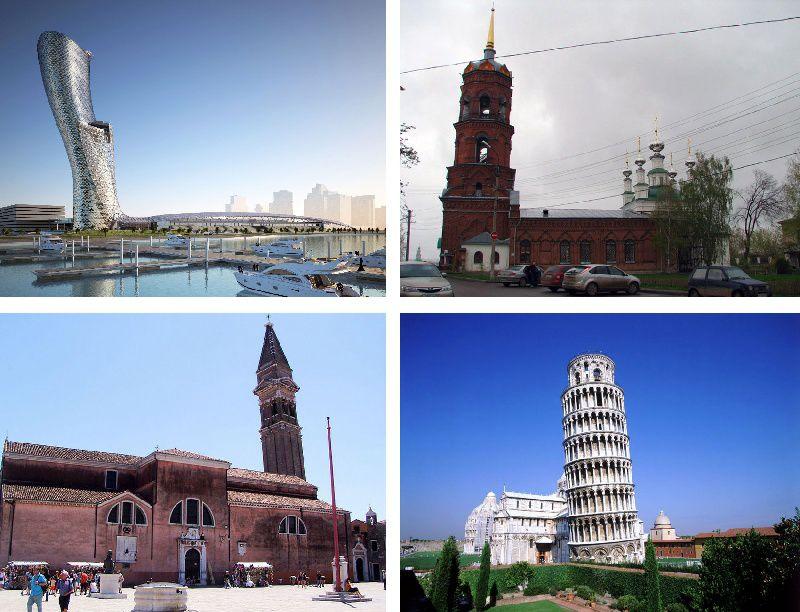 """13 самых интересных """"падающих"""" башен мира небоскреб, башня, фото, интересное, архитектура, достопримечательности"""