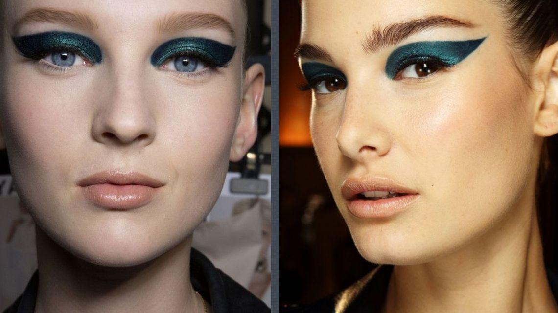 Изумрудные стрелки: что таит в себе новый тренд макияжа глаз