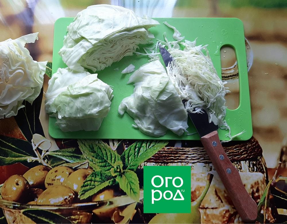 Как правильно шинковать капусту