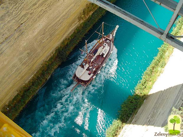 Коринфский канал в Греции – самый узкий судоходный канал в мире - 5