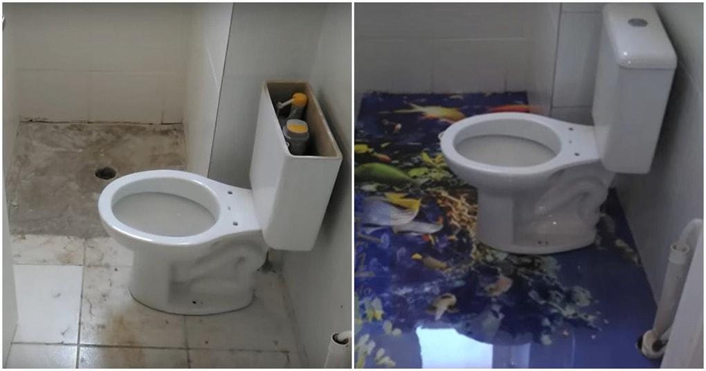 Преображение пола в туалете шаг за шагом
