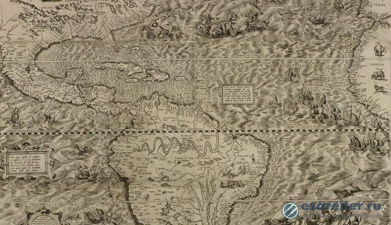 Русалку с НЛО в руке нашли на старинной карте