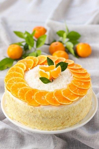 Восхитительный мандариновый торт