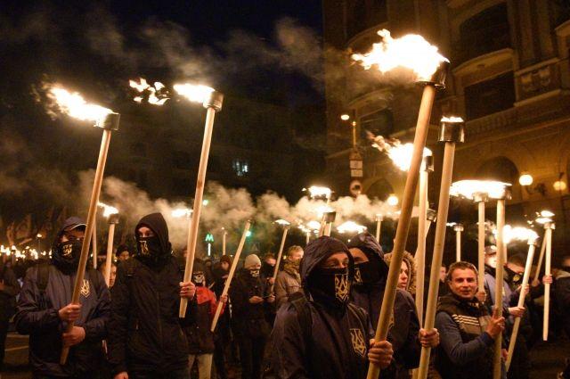 Марш националистов в Киеве собрал 10 тысяч человек