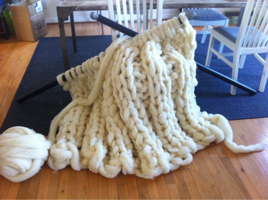 Очень толстая нитка для вязания 53