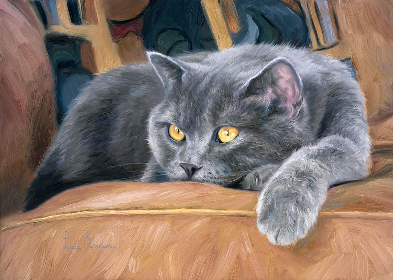 Картины для вышивки кошки