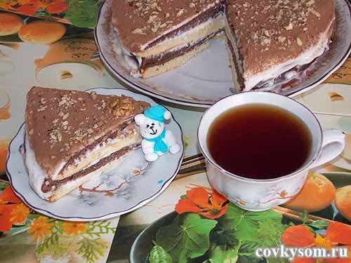 Простейший торт с кремом из сметаны