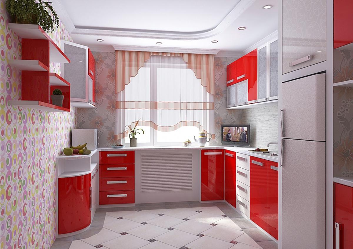 Интерьер красной кухни фото 2015 современные идеи