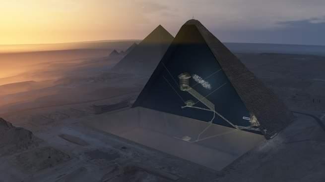 В пирамиде Хеопса есть огромная пустота и мы до сих пор не знаем, что в ней