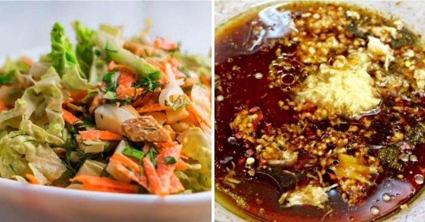 Острый салат из пекинской капусты