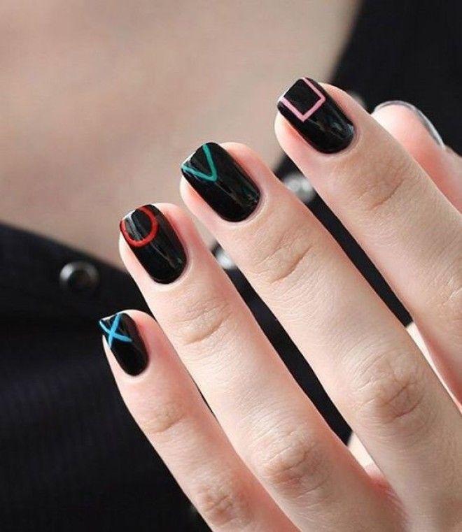 Самые стильные ногти 30 крутых идей для черного маникюра