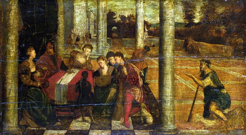 Бонифацио де Питати (последователь) - Богач и Лазарь. Национальная галерея, Часть 1