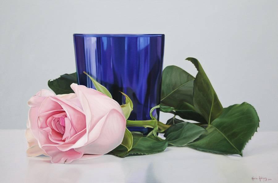 Художница Karina Rodriguez, розы