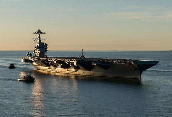 ВМС США завершили приемочные испытания авианосца CVN-78 «Джеральд Форд»