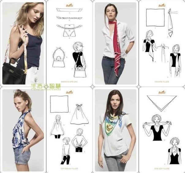 20 оригинальных вариантов как носить шарф 3
