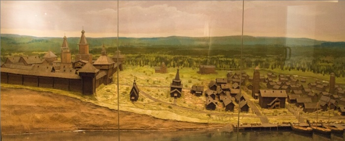 Мангазея. Реконструкция в Таймырском краеведческом музее.