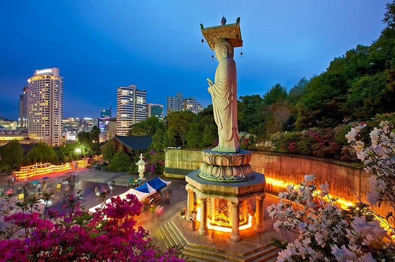Храм Бонынса. Сеул. Южная Корея.