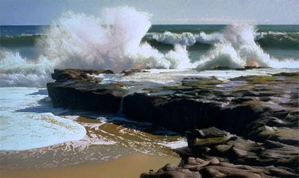 Море, море...мир безбрежный...картины четырех художников