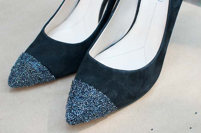 Декор бисером обуви
