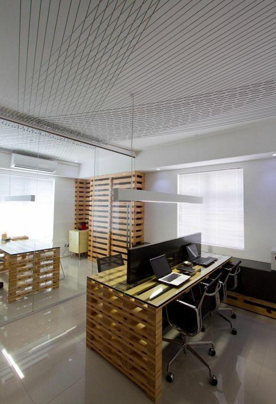 Офисы из поддонов и паллет (трафик)