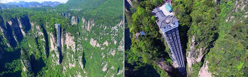 Bailong Elevator – самый высокий лифт в мире, поднимающий туристов на вершину скалы