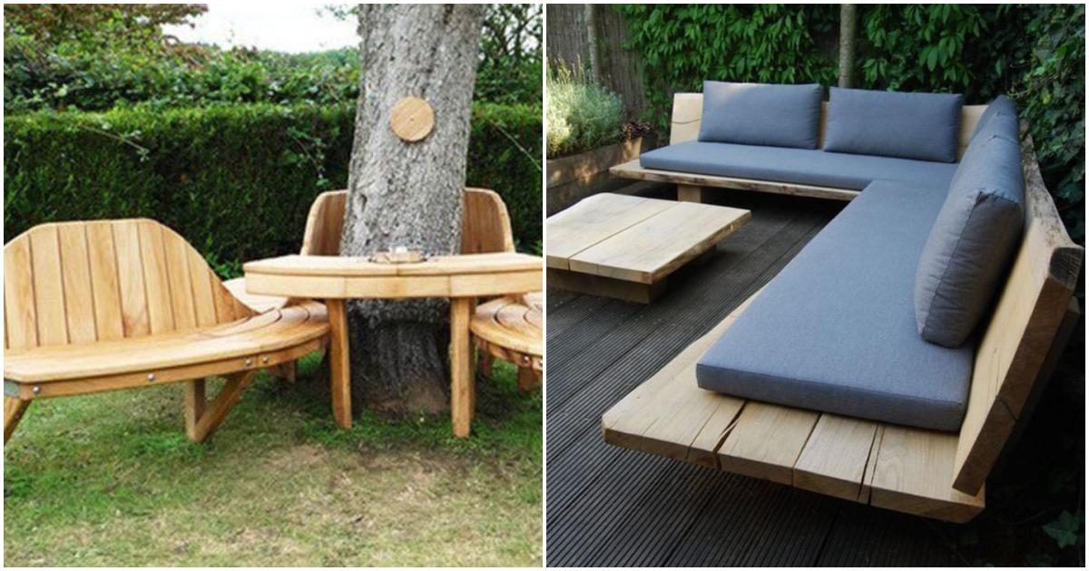 23 интересные идеи деревянной мебели для любого участка