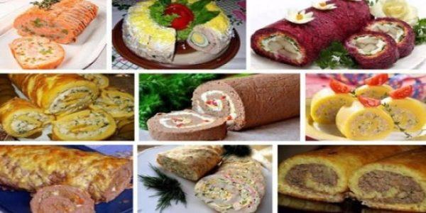 Топ-9 рецептов закусочных рулетов к праздничному столу!