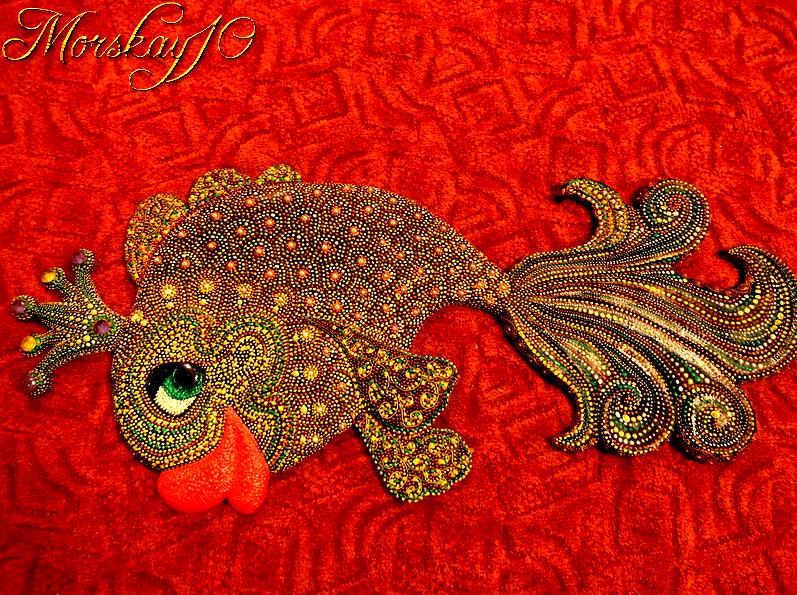 Morskay10. Золотая Рыбка (точечная роспись)