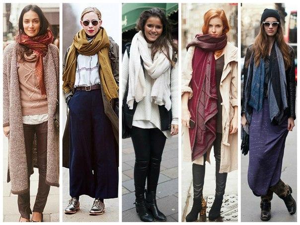 Хит осени – объемный шарф