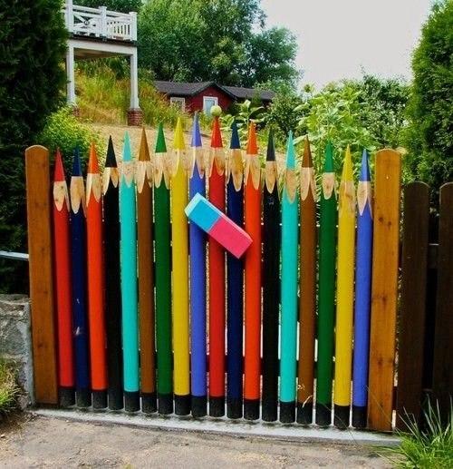 Карандашный забор