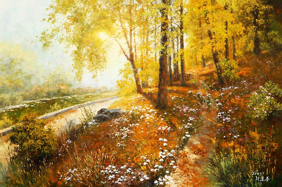 Прекрасные пейзажи корейского художника