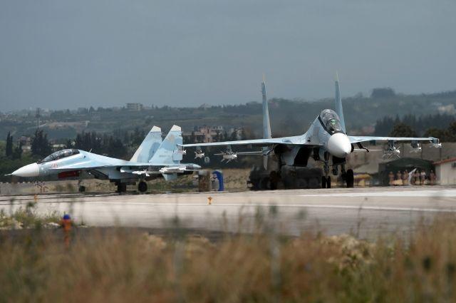 Беспилотник боевиков был сбит в районе авиабазы Хмеймим в Сирии