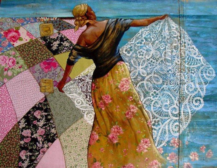 Изысканный пэчвок бразильской художницы SANDRA FREITAS