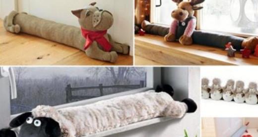 Милые подушки от сквозняков своими руками