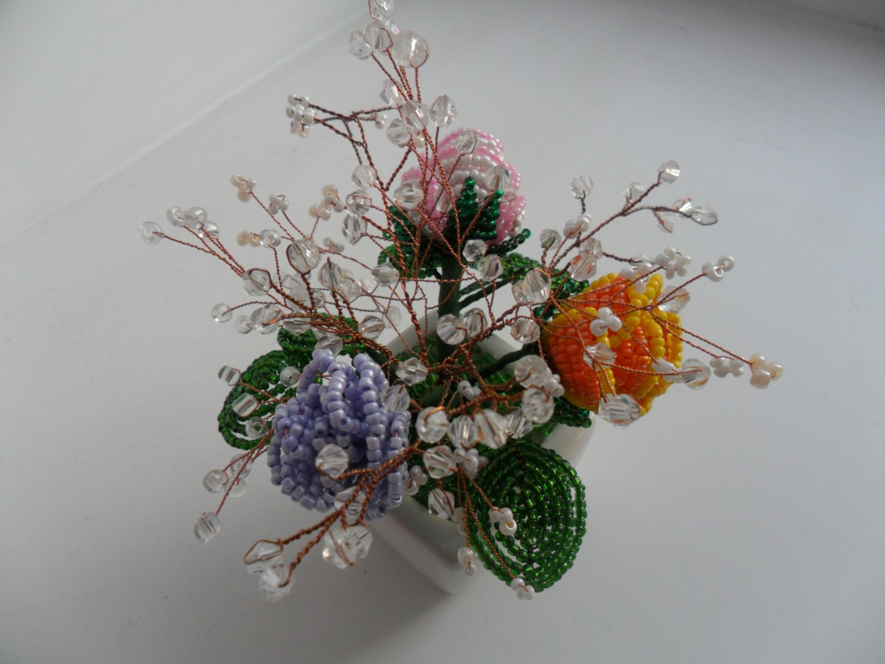 Бисероплетение цветы букеты фото