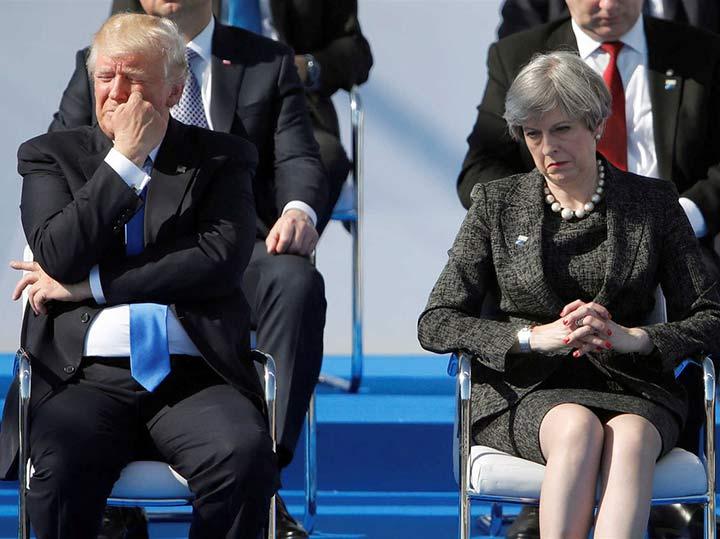 Пацифист Трамп и Тереза Мэй