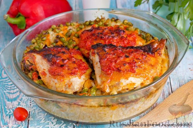 Запеченная курица в маринаде…