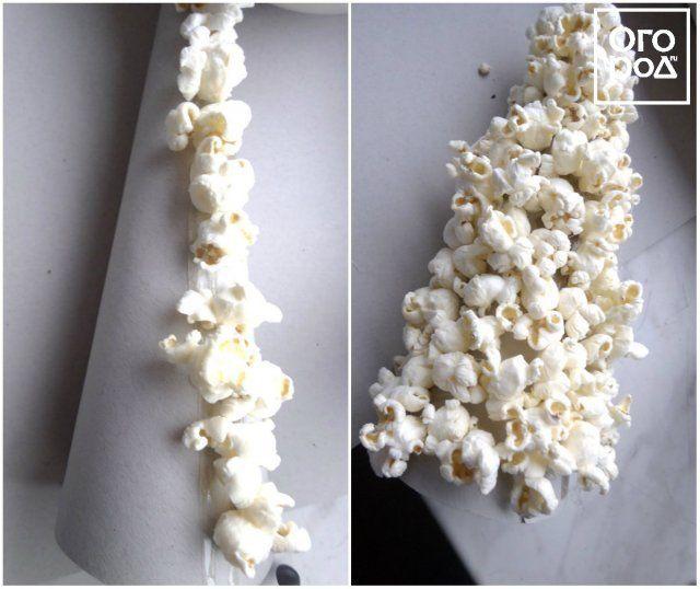 Как сделать елку из попкорна