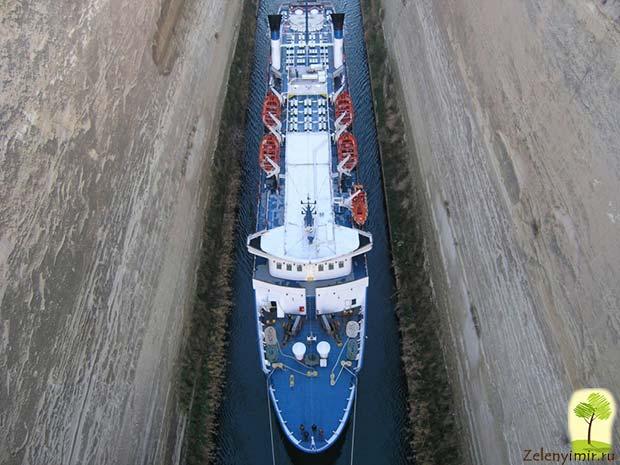Коринфский канал в Греции – самый узкий судоходный канал в мире - 2