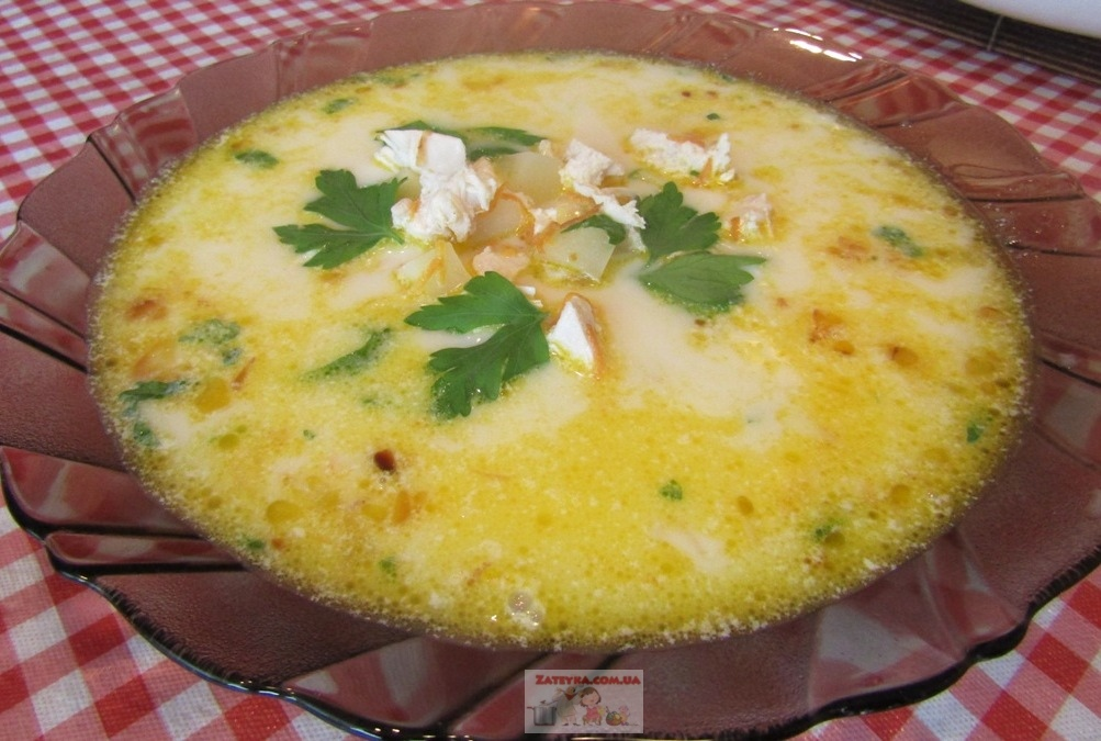 Сливочный суп с курицей