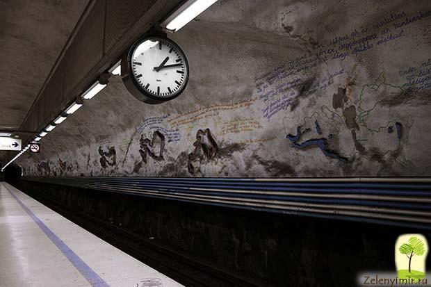 Ошеломляющее метро в Стокгольме – самая длинная художественная галерея в мире, Швеция - 22