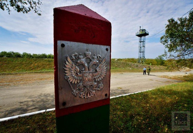 Место стыка трёх границ граница, китай, кндр, россия