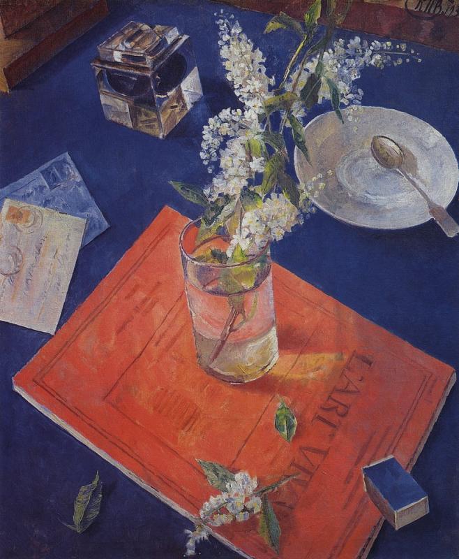 """Петров-Водкин. """"Черёмуха в стакане"""". 1932"""