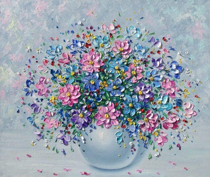 Московский художник Елена Андреева. Праздничные цветы