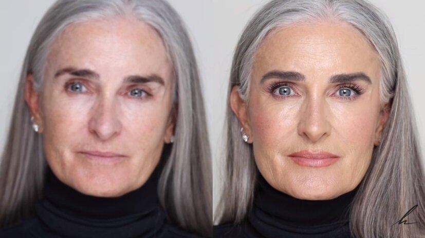 Визажист показал, как краситься в зрелом возрасте, чтобы выглядеть эффектно
