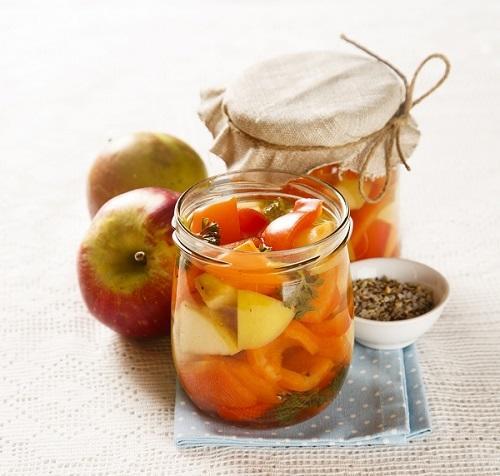 Закатываем перец с яблоками - такого вы ещё не пробовали