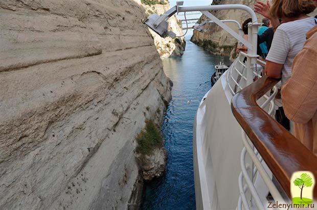 Коринфский канал в Греции – самый узкий судоходный канал в мире - 7
